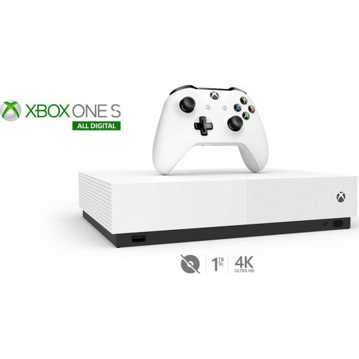 Microsoft Xbox One S White All Digital Edition