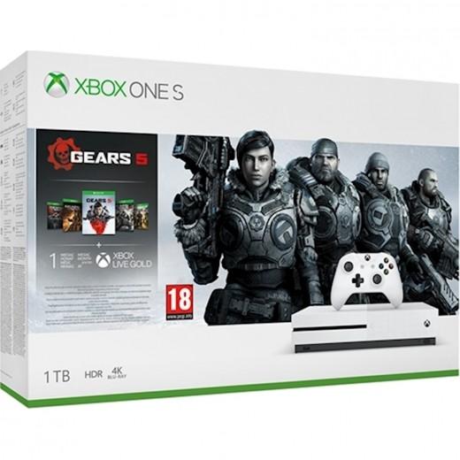 Microsoft Xbox One S White All 1TB + GEARS 5 Bundle