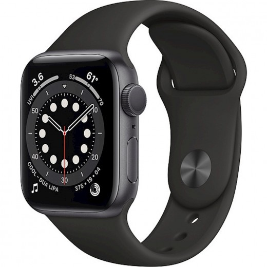 Apple Watch Series 6 GPS 40mm Blue Aluminum Case with Sport Band Black EU