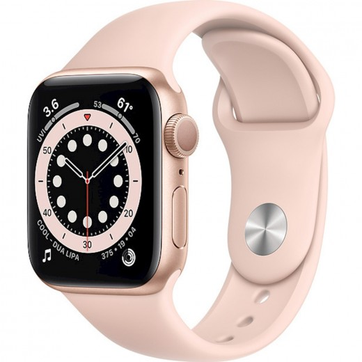 Apple Watch Series 6 GPS 40mm Blue Aluminum Case with Sport Band Pink Sand EU