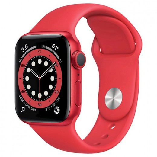 Apple Watch Series 6 GPS 44mm Blue Aluminum Case with Sport Band RedEU