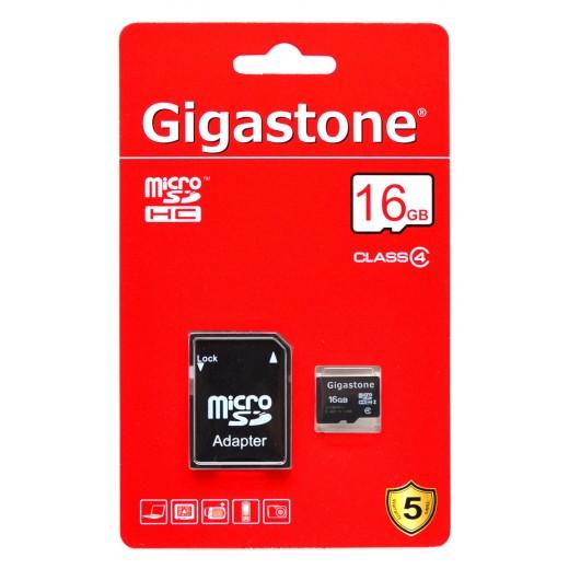 Gigastone MicroSDHC 16GB Class 4 με SD Αντάπτορα