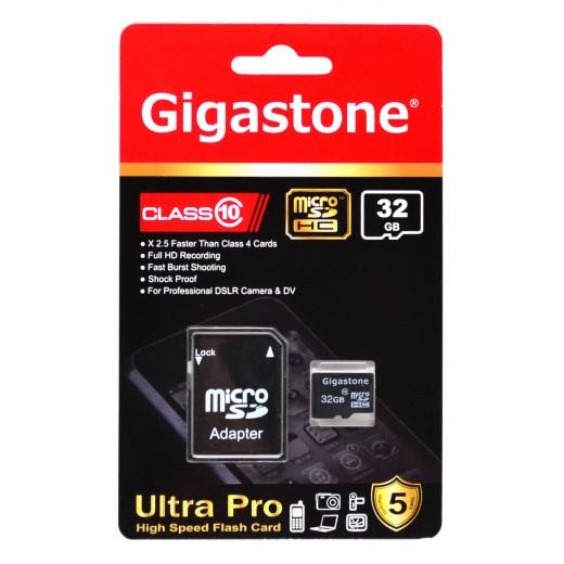 Gigastone MicroSDHC 32GB Class 10 με SD Αντάπτορα